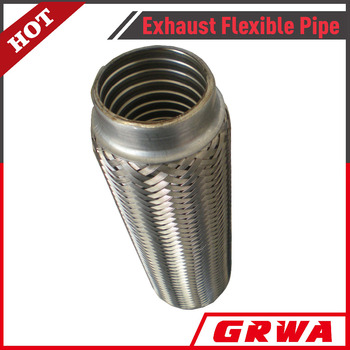 Stainless steel 201 inner interlock and outer braid exhaust flexible pipe