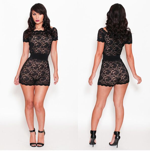 Stitching lace fashion mini dress sexy patchwork sheath black mini dresses for women short sleeve O-neck dresses 2015 new style