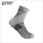Wholesale grey middle anti bacterial mens sports running crew socks