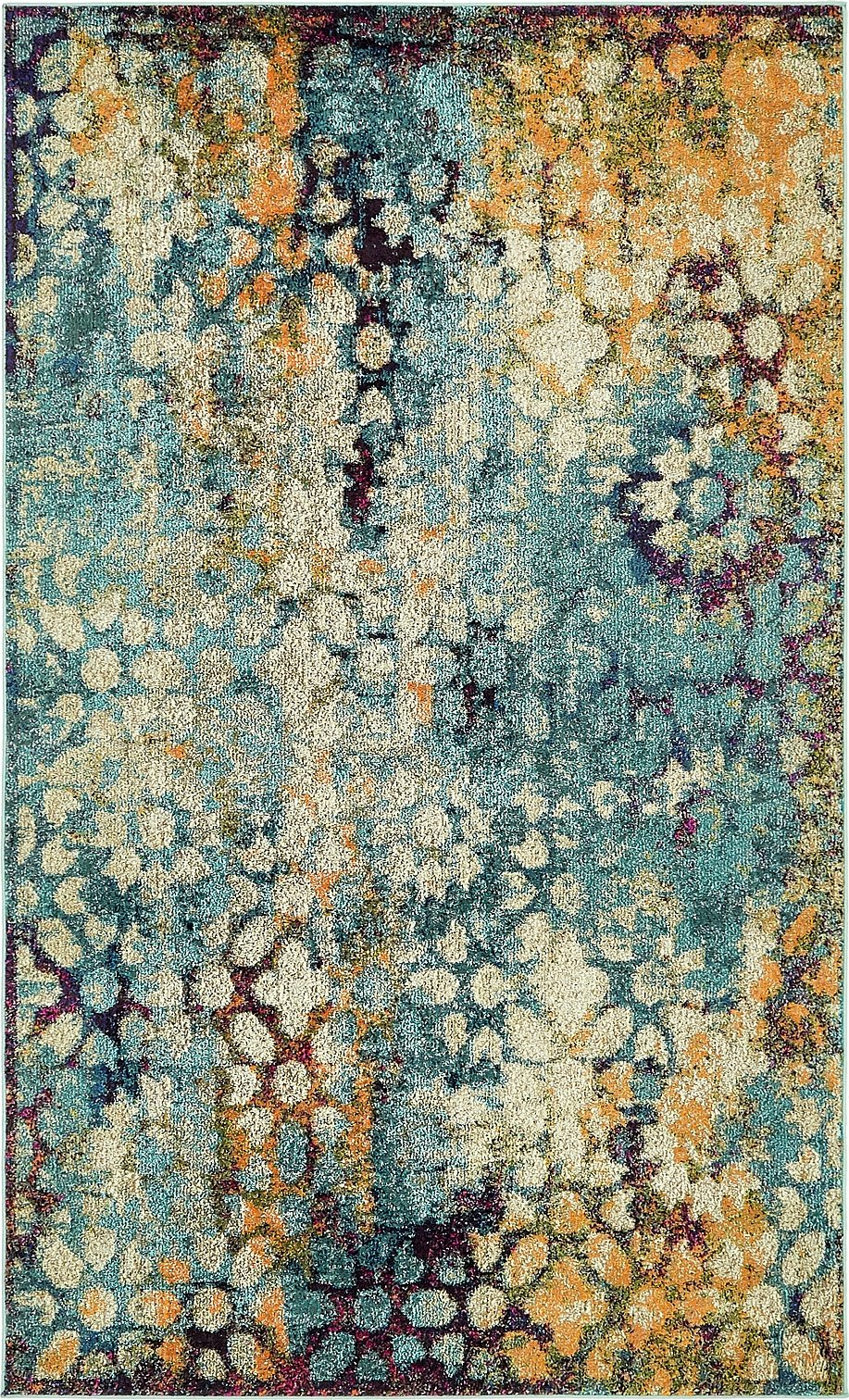 A2Z Rug Modern Contemporary & Traditional Design Rugs, Blue 5' x 8'-Feet Milano Collection Area rug