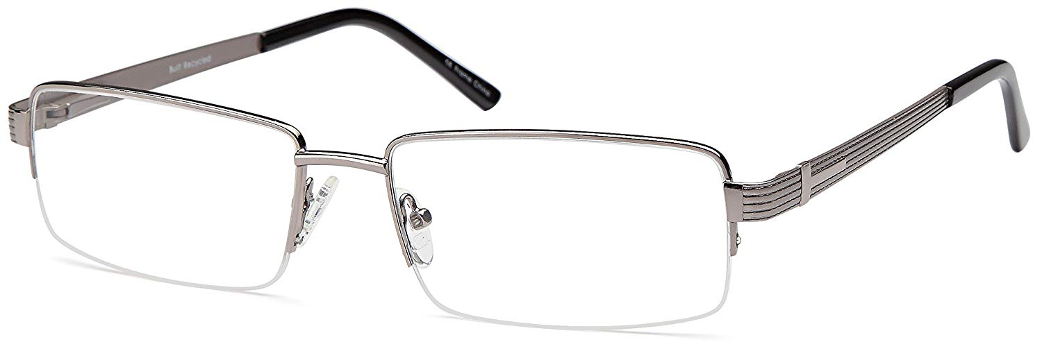 2edc2067e5a Get Quotations · DALIX mens Prescription Eyeglasses Frames 60-18-140-39  RXable in Grey