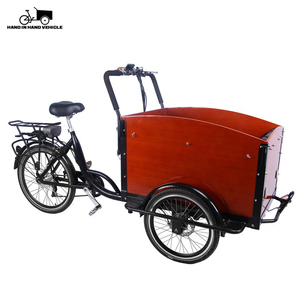 Europe style front loading tricycle 3 wheel electric cargo bike for delivery goods