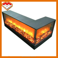 Insert Installation multi sided fireplace type 2 sided electric fireplace