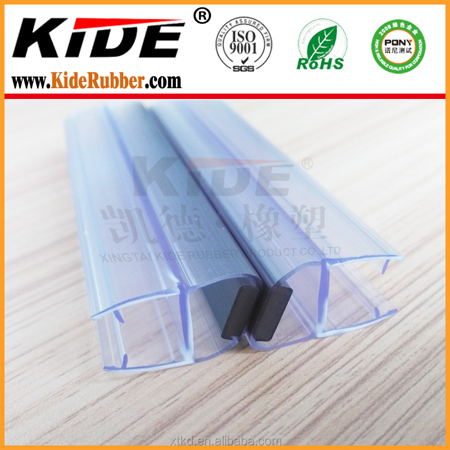 Glass Shower Door Seal Magnetic Edge Strip Buy Glass Edge Strip