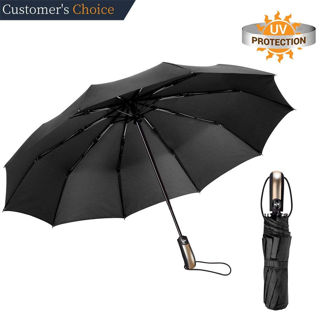 Eastsky Umbrella Travel Umbrella Windproof Compact Umbrella Golf Umbrella Automatic Open Close Folding Portable Umbrella with UV Coating