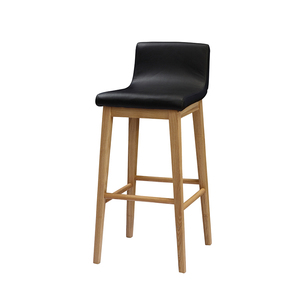 CHINA factory wholesale wooden bar stool with low back set 28 inch height(FOH Furniture)
