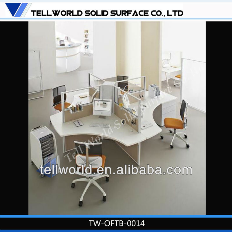 solid surface office furniture office desk for 3 people,office workstation for sale