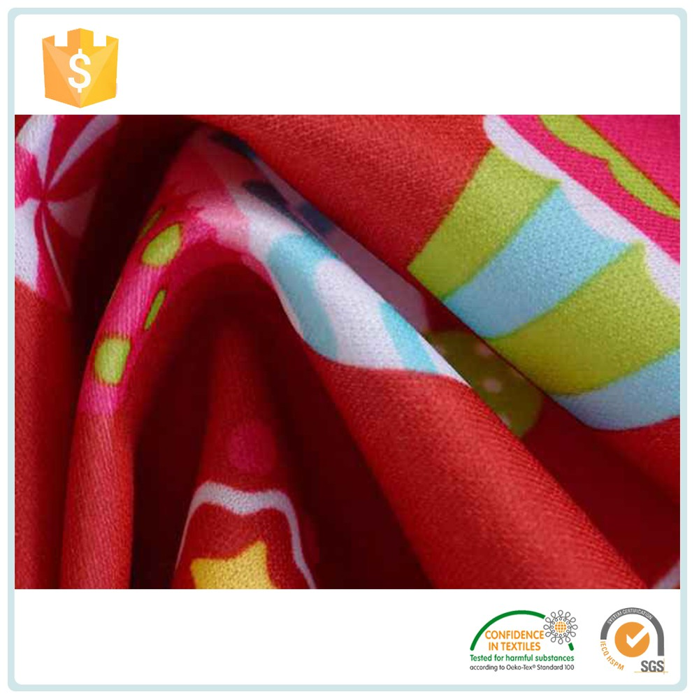 Buy Wholesale From China Air Permeability Fabric / Waterproof 100% Cotton Print Knitted Fabric