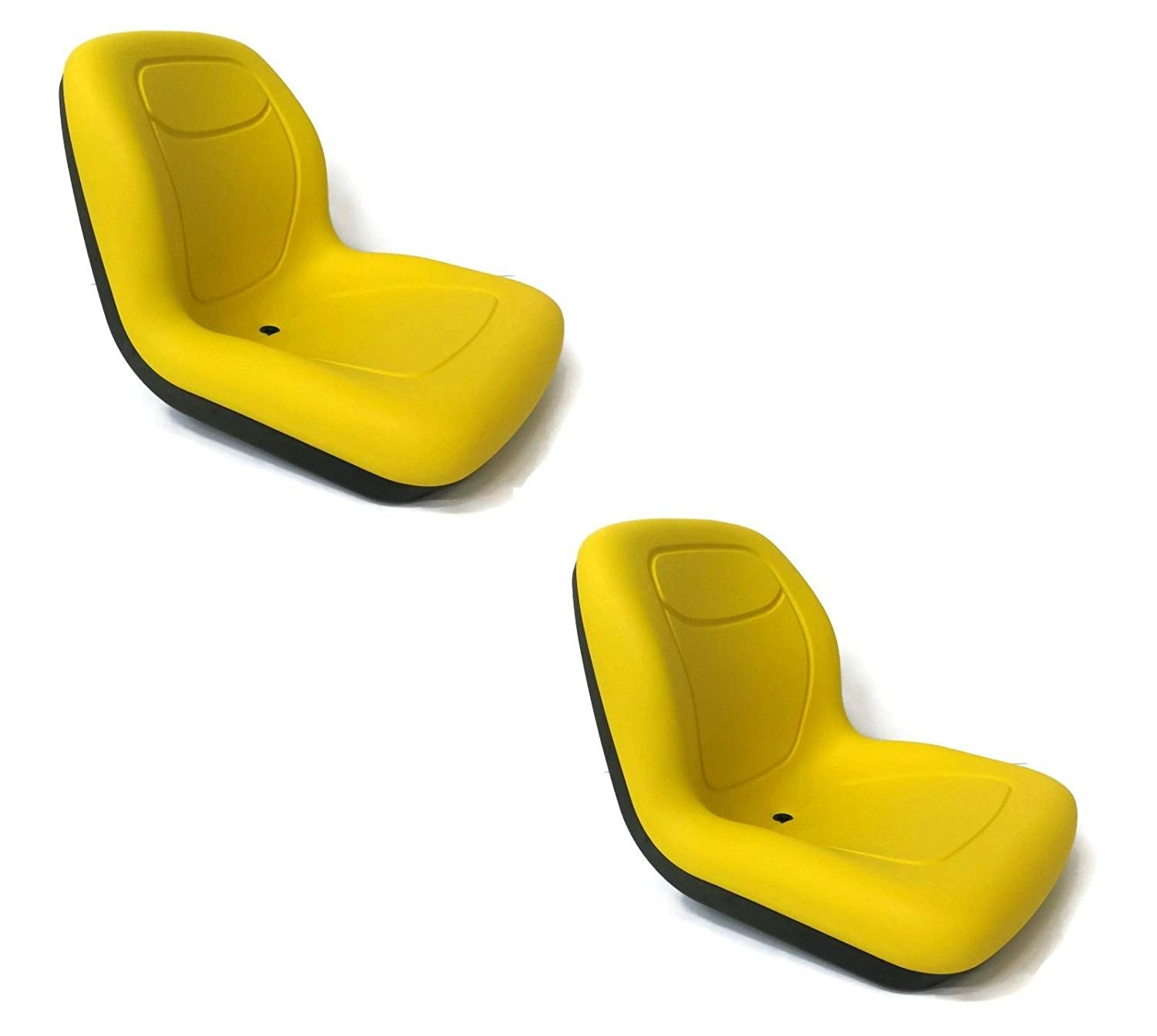 The ROP Shop (2) Yellow HIGH Back Seats for John Deere VG11696 VG12160 VGA10177 XB180 XB-180