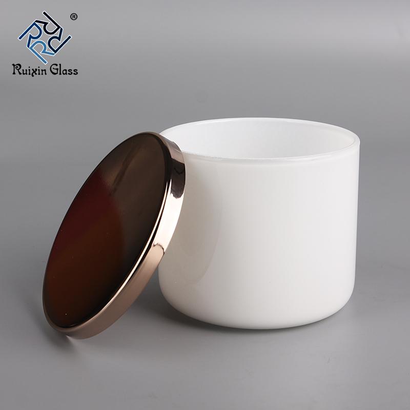 CJ306 Cheap Price Custom Logo Rose Gold Candle Jar With Lid