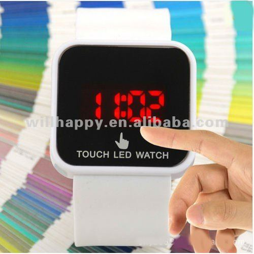 LED silicone touch digital wrist watch(SW-458)