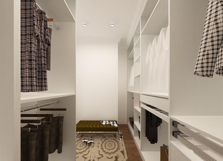 America Project Melamine Cloakroom White Open Wardrobe Design ...
