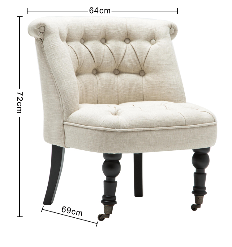 लहजे आधुनिक फर्नीचर अवकाश कमरे में रहने वाले सोफे गुच्छेदार यूरोपीय शैली कपड़े विंग सफेद लाउंज कुर्सी