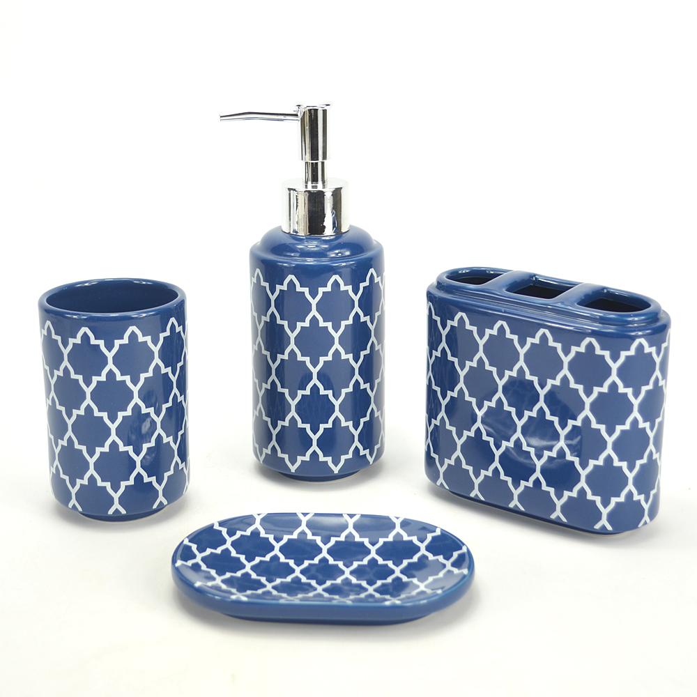 Grossiste accessoires salle de bain bleu Acheter les meilleurs
