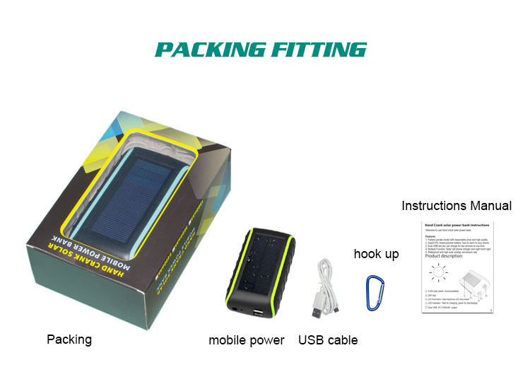 solar mobile charger cover/solar charger for mobile phone/Portable solar charger hand shake solar power