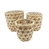 The Most Popular Latest Design Crafts Metal and Bamboo Wire Fruit Basket