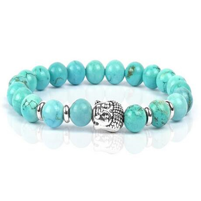 Men's handmade is women's turquoise bracelet of volcanic rocks of Christmas gifts