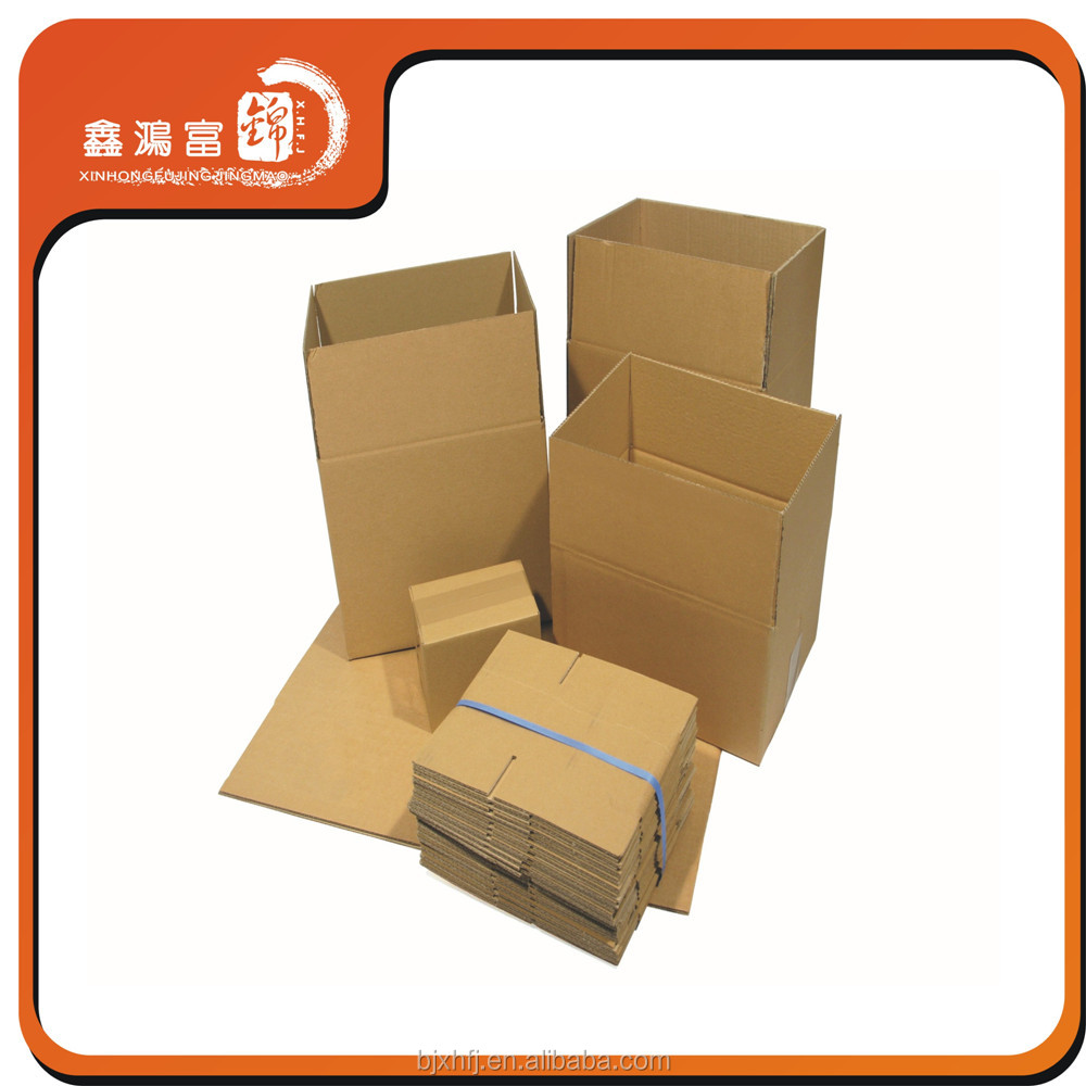 XHFJ Recycled Cardboard Folding Brown Kraft paper box for shipping