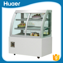 Commercial refrigerated cake cabinet 220v/50hz showcase for supermarket new style chiller