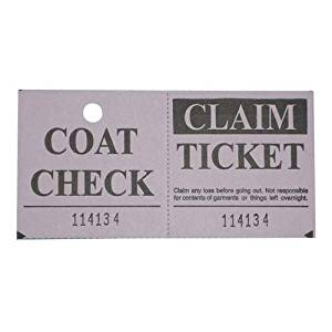 Check Ticket, Coat, 2 Part, 1000 Ct, Lavender (SPR99314) Category: Party Decorations and Party Supplies