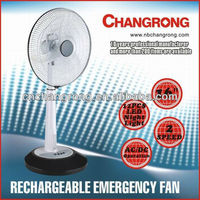 Electrical rechargeable battery and power line builted-in strong wine fan with light