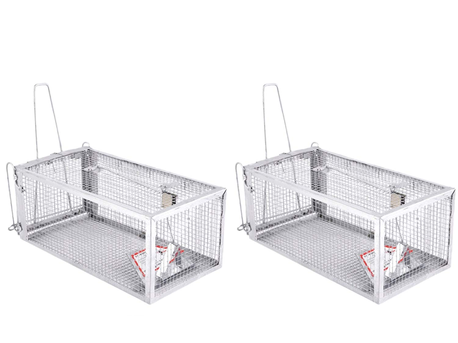 2 pack Live Animal Humane Trap Catch and Release Rats Mouse Mice Rodents Squirrels and Similar Sized Pests 2 Pack