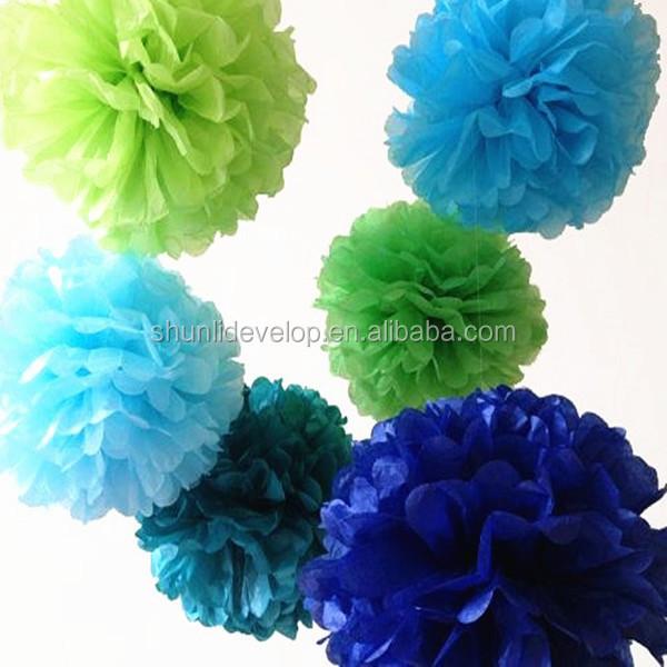 christmas tree decorations tissue paper pom poms flower balls buy tissue paper flower decoration paper flower decoration