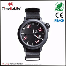 38mm Custom Black Face Big Arabic Numeral Dial Genuine Leather Strap Sports Cool Popular For Man Teenagers Watches