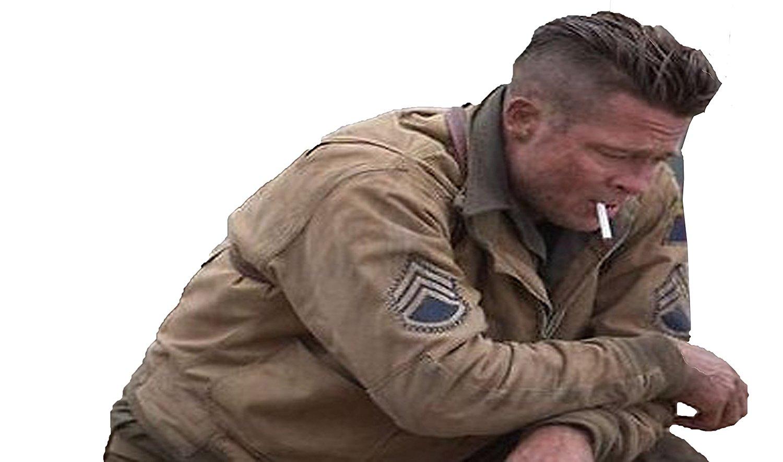 PRLWRS Fury Brad Pitt Tanker World War 2 Cotton Jacket
