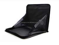 Foldable Auto Car Back Seat Organizer with Tray Laptop Holder Food Tray Table Black
