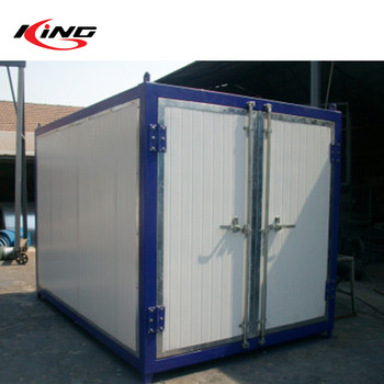 Powder coating Curing oven customized track with trolley