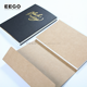 pretty custom gold bound unruled eco brown lined notebooks with logo custom kraft removable for school