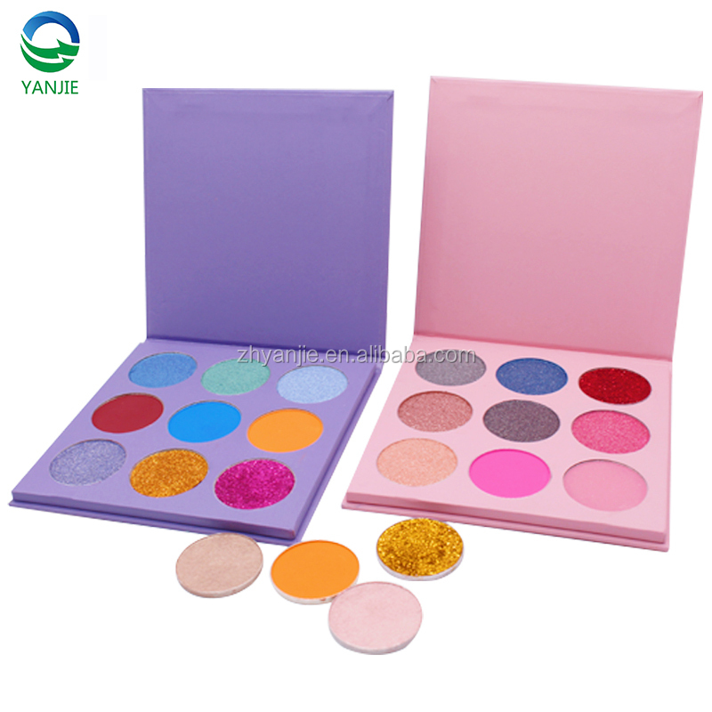 Alibaba.com / Private Label Make Up Cosmetics no brand wholesale makeup Pressed Matte Shimmer Glitter and Diamond  Eyeshadow