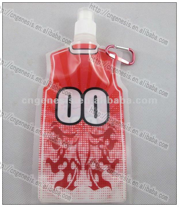 2016 T-shirt sports cool bottle foldable water bottle