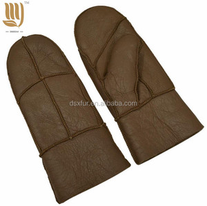 Fashion Winter Warm Sheep Gloves Mittens Girls Women Cute Suede Riding Gloves Women's gloves
