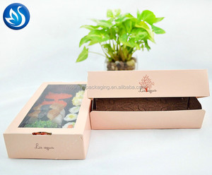 Hot selling custom sushi paper box with lid,sushi nori box