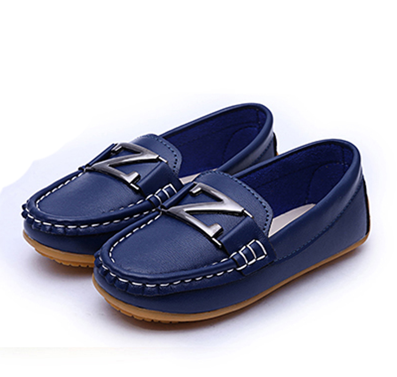 f9142b423bd7 Get Quotations · 2015 Autumn New Arrival Children Flat Shoes Black Blue  White Red Soft PU Leather Children Moccasin