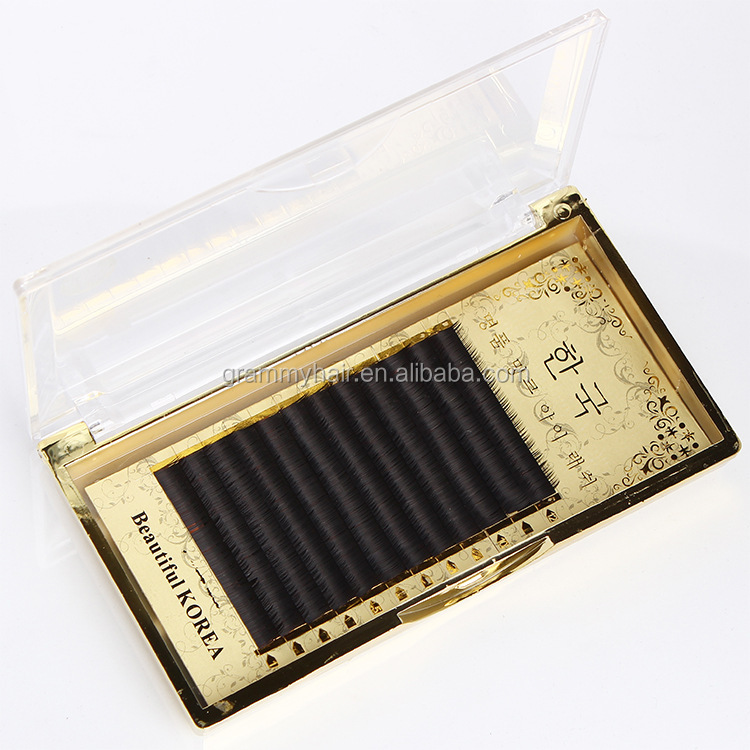 Own brand environmental protection materials 0.085 eyelash full extension prime silk lashes individual lashes extensions