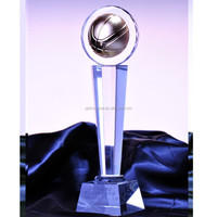 wholesale new design metal crystal basketball trophy