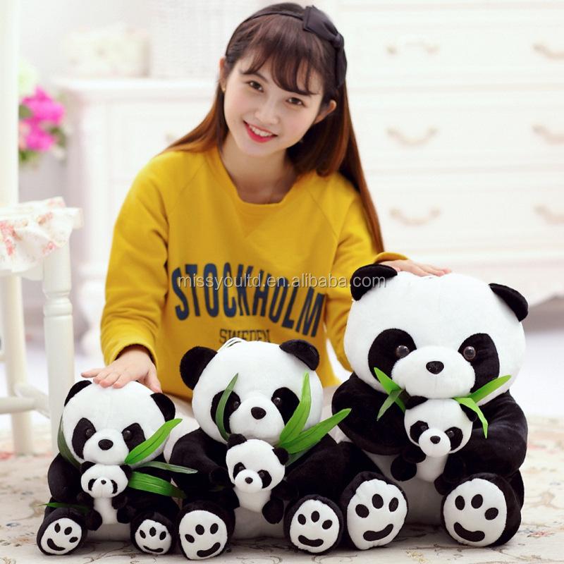 The panda doll doll birthday gift Cute plush toys