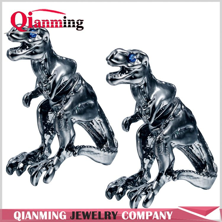 Realistic T-REX Stud ANIMAL Tyrannosaurus Studs Two parts earrings for Men women Lovers Nice Earrings Famous Brand Jew