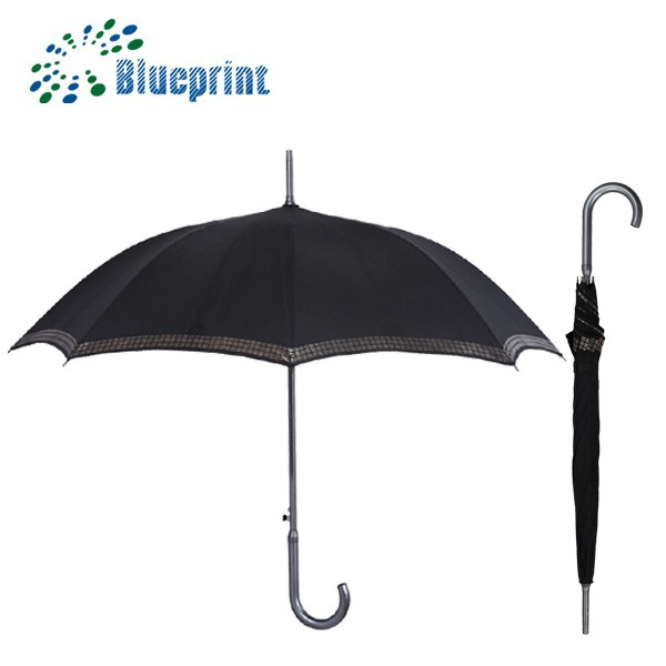 Automatic Black Gifts Aluminum Umbrella Stick Commercial Wholesale Sets
