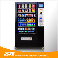 Coin/Bill/Credit Card Operated Vending Machine for Snacks&Drinks