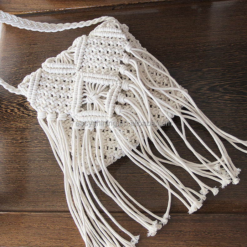 wholesale cheap price White shoulder Crochet bag ESL0029