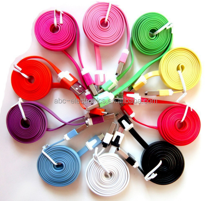 3ft 1M colorful micro usb data/ sync charging cable 10 colors available