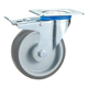Long way handling equipment 4inch 100kg TPR furniture caster trolley wheel with brake