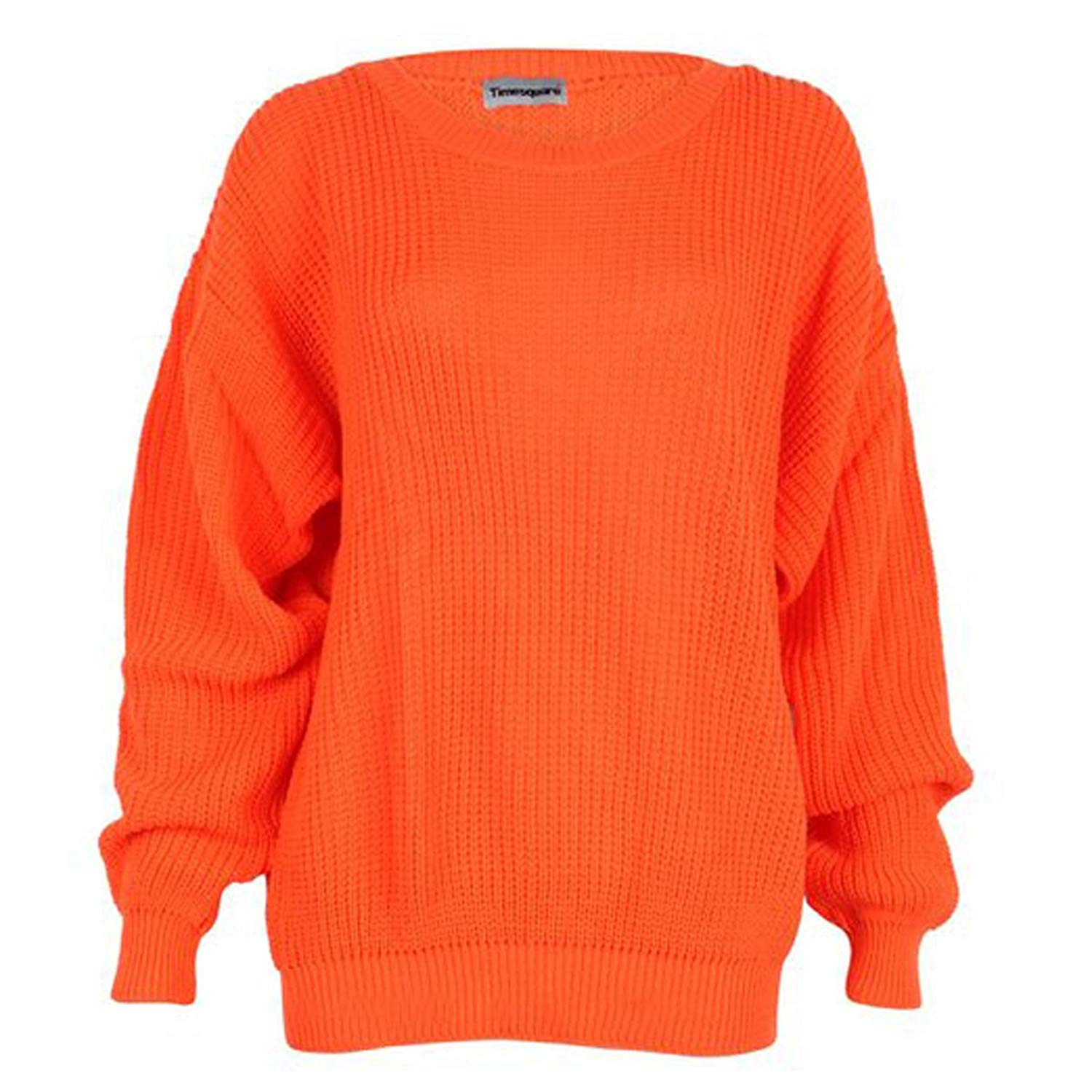 Get Quotations · Girls Walk Women s Plus Size Chunky Knitted Oversize Baggy  Jumper Sweater Top a71466003