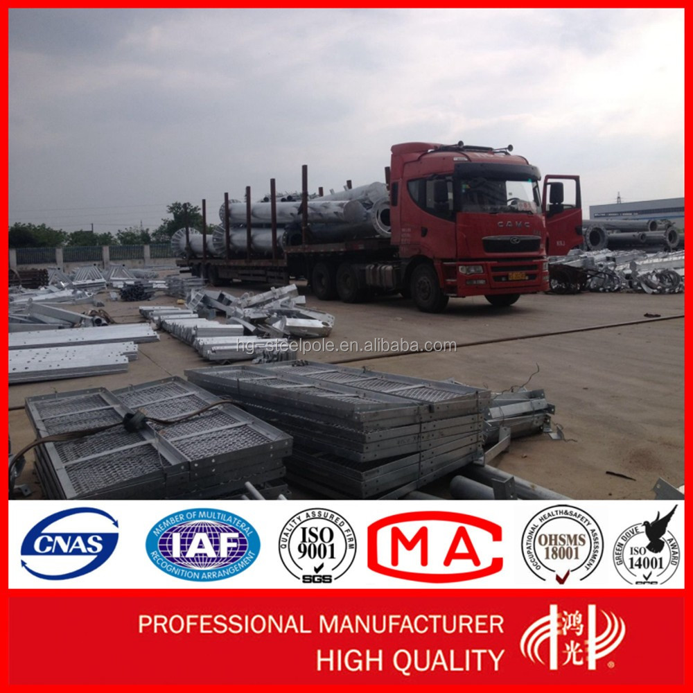AAA Credit Rating Certificated Q345 H18M Stainless Electric Transmission Poles for Clients