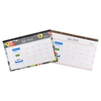 "Hot selling 22"" x 17"" size printing monthly desk pad calendar planner"