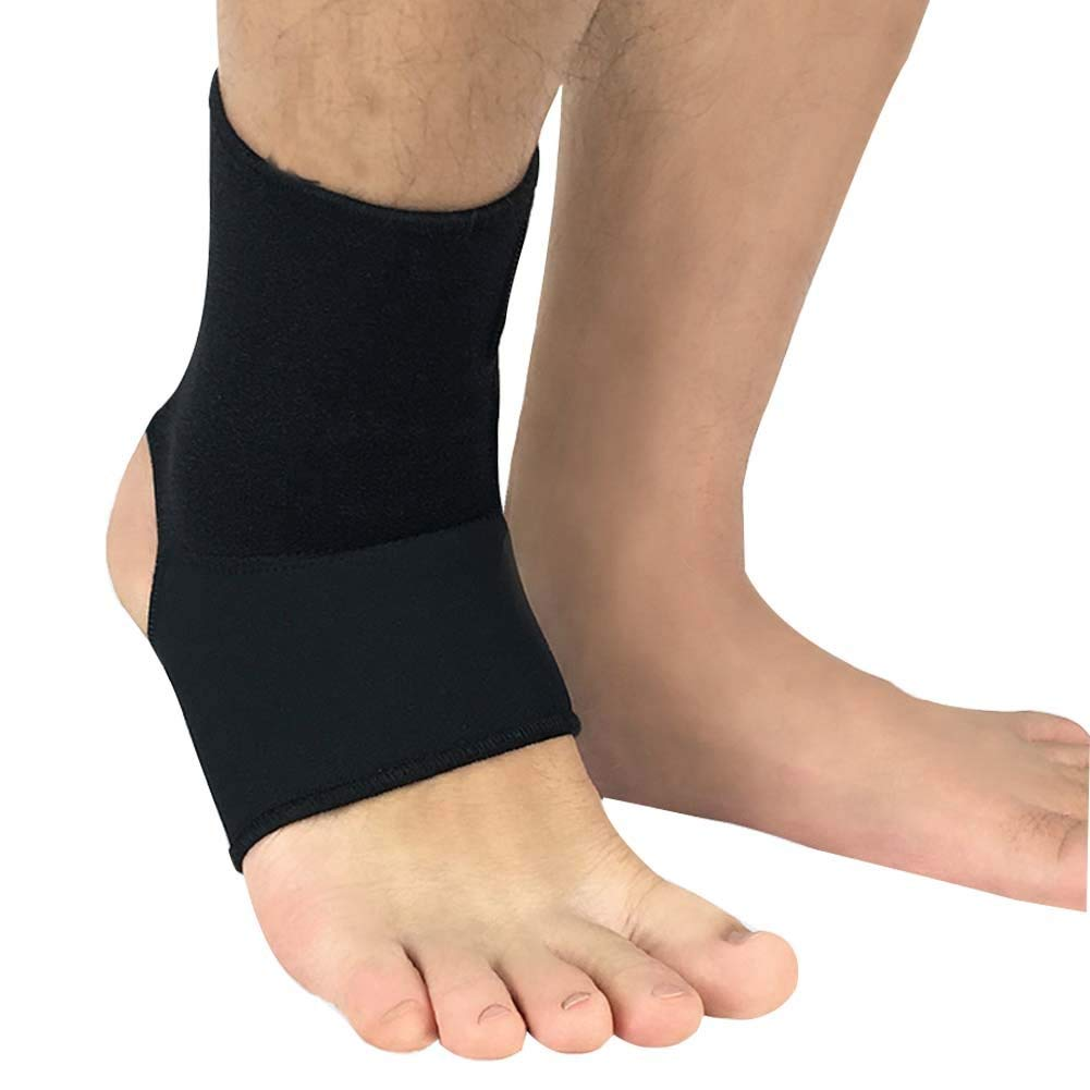 7a5f0fe459fd Get Quotations · DIBIO Ankle Brace Support Sleeve Adjustable Wrap for  Running, Dance, Hiking, Basketball,